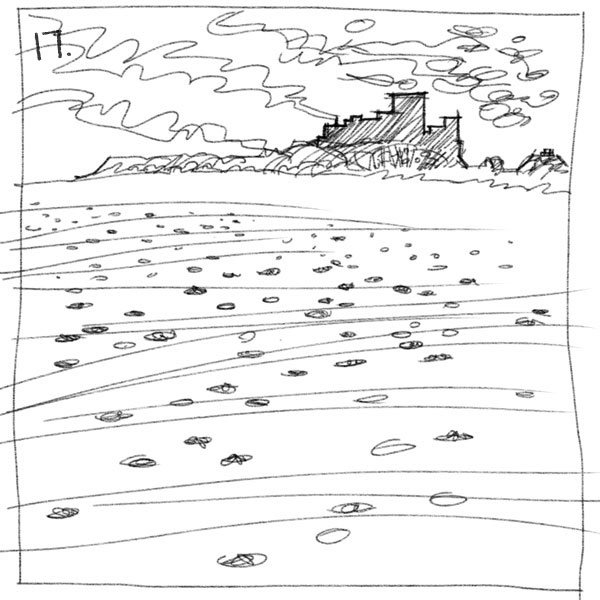 Thumbnail for an oil painting of Bamburgh beach