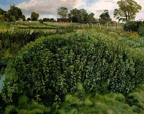 Painting of a patch of nettles
