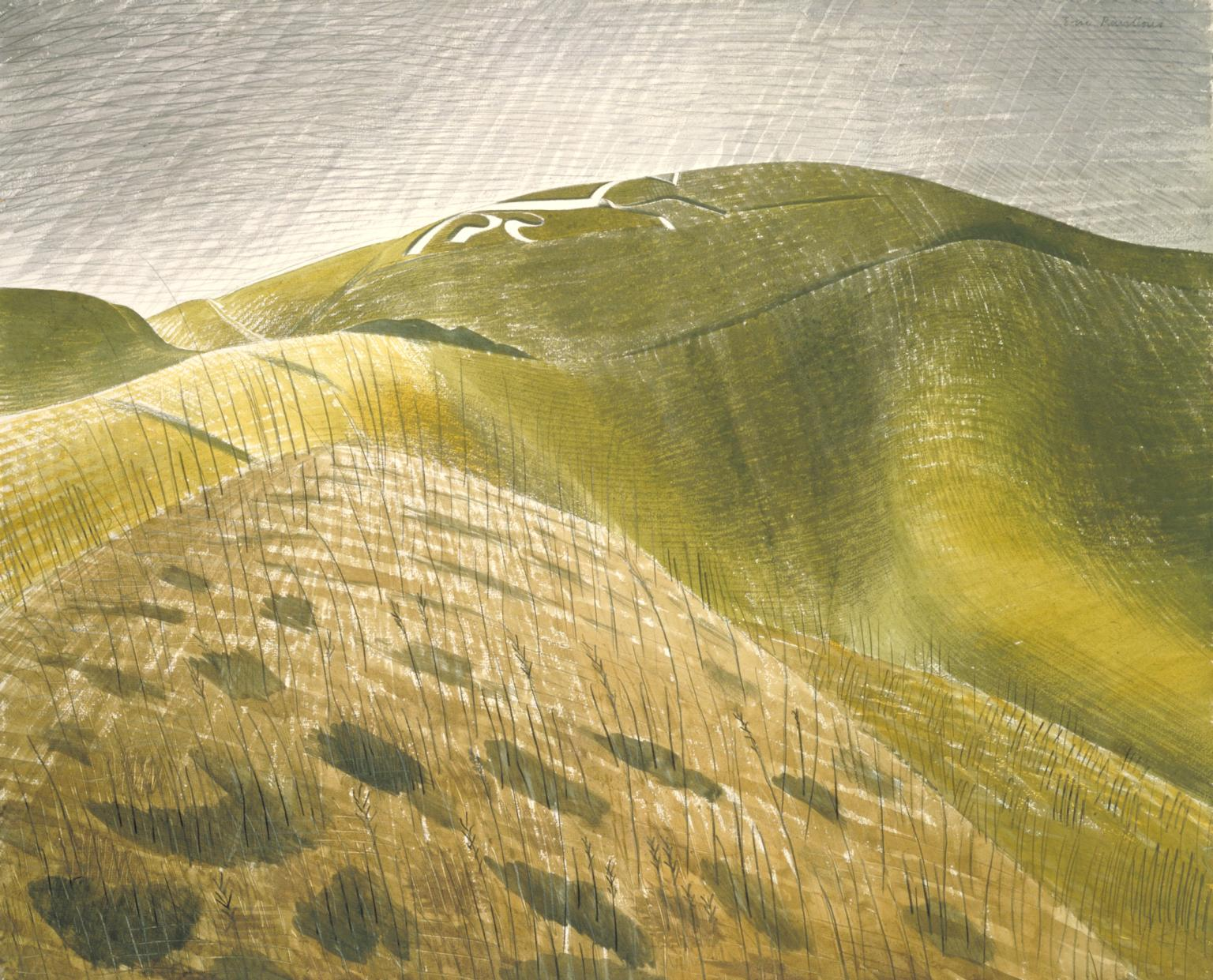 Uffington White Horse by Ravilious