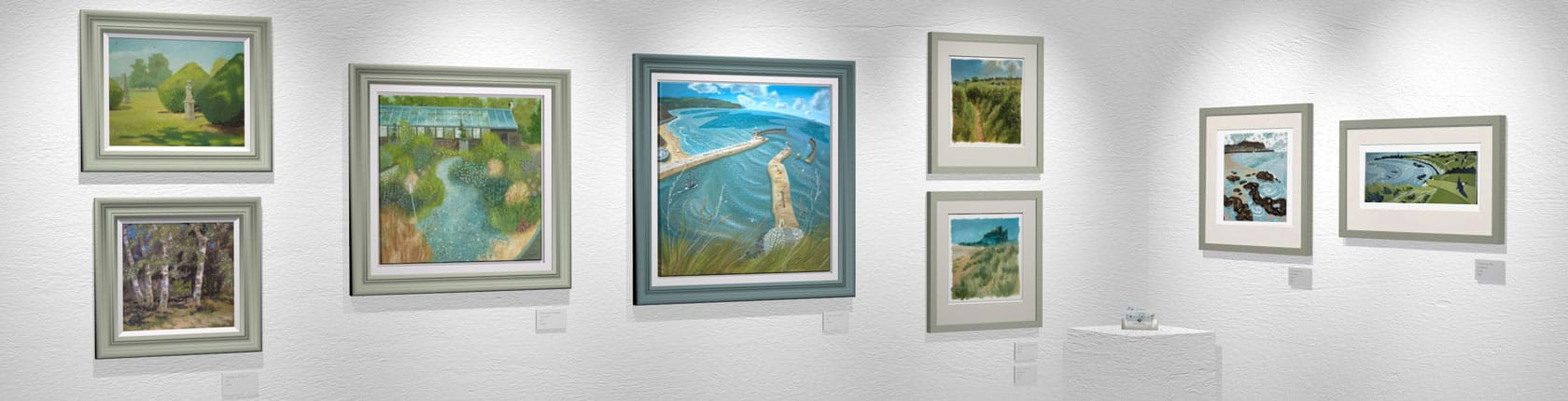 Studio oil paintings, plein air oils, acrylic and prints